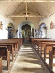 Eglise Saint-Martin - Français:   Église Saint-Martin de Châtillon-sur-Colmont (53). Nef.
