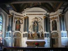 Chapelle Notre-Dame de Bon Secours de Mangolérian - Intérieur de la chapelle de Mangolérian à Monterblanc (Morbihan)