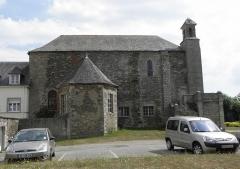 Eglise Saint-Martin - Français:   Église Saint-Martin de Josselin (56). Flanc oust avec arrachements de l\'ancienne nef.