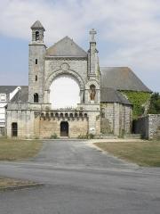 Eglise Saint-Martin - Français:   Église Saint-Martin de Josselin (56). Vue méridionale de la façade principale.