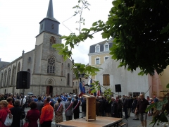 Église Saint-Géran - English: Bastille Day in Le Palais, place de l'hôtel de ville.