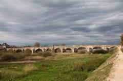 """Grand pont sur la Loire - English:  Bridge over the Loire at """"La Charité."""""""
