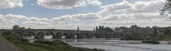 "Grand pont sur la Loire - English:  Bridge over the Loire at ""La Charité"" downstream view"