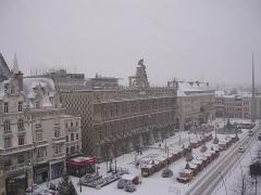 Hôtel de ville - English: Valenciennes (place d'armes) in winter