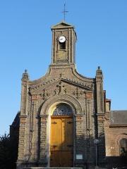 Eglise Sainte-Barbe - Français:   La Fosse La Sentinelle de la Compagnie des mines d\'Anzin était un charbonnage constitué d\'un seul puits situé à La Sentinelle, Nord, Nord-Pas-de-Calais, France.