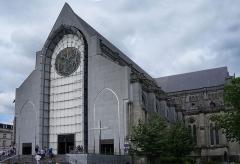 Cathédrale Notre-Dame de la Treille - La parvis de la cathédrale Notre-Dame-de-la-Treille  Lille Nord (département français)