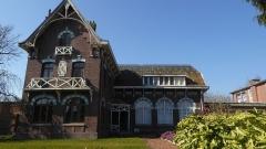 Salle des fêtes du quartier d'Arenberg construite par la compagnie des mines d'Anzin - Salle des fêtes des cités de la fosse Arenberg des mines d'Anzin.-  Nord (département français).