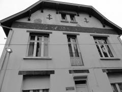 Eglise Saint-Edouard de la cité n° 12 de la compagnie de mines de Lens - Presbytère de l'église Saint-Édouard des cités de la Fosse n° 12 de la Compagnie des mines de Lens, Lens, Pas-de-Calais, Nord-Pas-de-Calais, France.