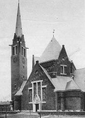 Eglise Saint-Louis de la cité Nouméa de la compagnie des mines de Drocourt - French