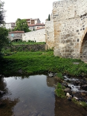 Pont sur la Monne - This building is indexed in the Base Mérimée, a database of architectural heritage maintained by the French Ministry of Culture,under the reference PA63000018 .
