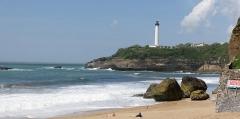 Phare de la Pointe Saint-Martin - Le phare de Biarritz (Pyrénées-Atlantiques, Nouvelle-Aquitaine, France).
