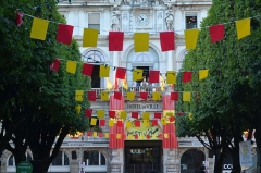 Mairie-théâtre - Occitan: Aviada deu Hestiv'òc 2015, plaça Reaiala a Pau.