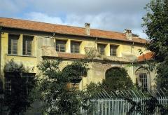 Couvent des Dames de Saint-Sauveur - Català: Antic convent de Sant Salvador (Perpinyà), claustre de l'església, la qual va passar a ser el dormitori del col·legi femení Jean Moulin