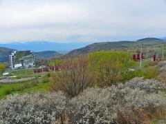 Four solaire d'Odeillo - Català: Forn solar d'Odelló des de l'entrada del poble (Alta Cerdanya)