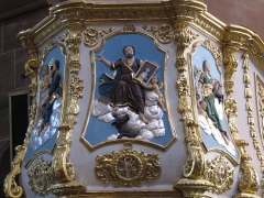 Eglise paroissiale Saints-Vincent-et-Anastase - This object is classé Monument Historique in the base Palissy, database of the French furniture patrimony of the French ministry of culture, under the references PM67000006 and IM67016985.