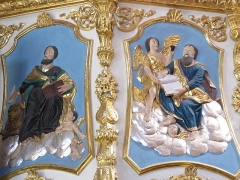 Eglise paroissiale Saints-Vincent-et-Anastase - This object is classé Monument Historique in the base Palissy, database of the French furniture patrimony of the French ministry of culture,under the referencesPM67000006 and IM67016985.