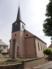 Eglise simultanée Saint-Etienne -  Alsace, Bas-Rhin, Wangen, Église simultanée Saint-Etienne (PA67000035, IA67006252).