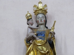 Enceinte urbaine médiévale - Alsace, Bas-Rhin, Église abbatiale Saint-Maurice d'Ebersmunster (PA00084701, IA00124485).  Statue