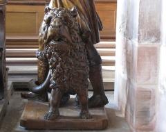 Eglise catholique Sainte-Thérèse-de-l'Enfant-Jésus - Alsace, Bas-Rhin, Église abbatiale Saint-Maurice d'Ebersmunster (PA00084701, IA00124485).  Chaire baroque (1693): lion de Samson.       This object is classé Monument Historique in the base Palissy, database of the French furniture patrimony of the French ministry of culture,under the referencesPM67000054 and IM67007545. brezhoneg| català| Deutsch| English| español| français| italiano| magyar| македонски| Plattdüütsch| português| suomi| +/−