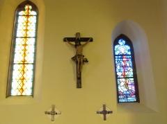 Chapelle Notre-Dame du Grasweg - Français:   Alsace, Bas-Rhin, Chapelle Notre-Dame-du-Grasweg de Huttenheim (PA67000055, IA00023590). Christ en croix.