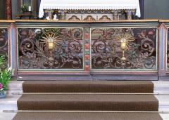 Ancien couvent d'Augustines Notre-Dame - Français:   Alsace, Bas-Rhin, Chapelle Notre-Dame de Molsheim (1867), chapelle de l\'ancien couvent d\'Augustines Notre-Dame (PA67000056, IA67006100). Grille de chœur.
