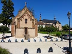 Ancien couvent d'Augustines Notre-Dame - Alsace, Bas-Rhin, Molsheim, Ancien Couvent d'Augustines Notre-Dame, Ancienne chapelle du cimetière (vers 1860) (PA67000056, IA67006100).
