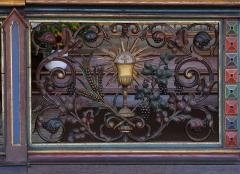 Ancien couvent d'Augustines Notre-Dame - Alsace, Bas-Rhin, Chapelle Notre-Dame de Molsheim (1867), chapelle de l'ancien couvent d'Augustines Notre-Dame (PA67000056, IA67006100). Grille de chœur.