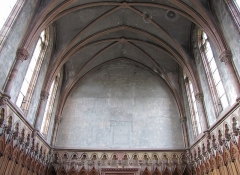 Ancien couvent d'Augustines Notre-Dame - Français:   Alsace, Bas-Rhin, Chapelle Notre-Dame de Molsheim (1867), chapelle de l\'ancien couvent d\'Augustines Notre-Dame (PA67000056, IA67006100). Salle capitulaire.