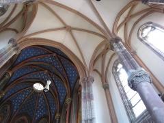 Ancien couvent d'Augustines Notre-Dame - Français:   Alsace, Bas-Rhin, Chapelle Notre-Dame de Molsheim (1867), chapelle de l\'ancien couvent d\'Augustines Notre-Dame (PA67000056, IA67006100). Voûtes et croisées.