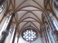 Ancien couvent d'Augustines Notre-Dame - Français:   Alsace, Bas-Rhin, Chapelle Notre-Dame de Molsheim (1867), chapelle de l\'ancien couvent d\'Augustines Notre-Dame (PA67000056, IA67006100). Voûtes et rosace.