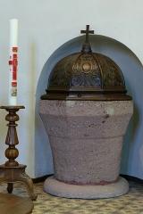Eglise catholique Saint-Nicolas -  Alsace, Bas-Rhin, Neuve-Église, Église Saint-Nicolas (PA67000057, IA67009451): Fonts baptismaux.