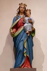 Eglise catholique Saint-Nicolas -  Alsace, Bas-Rhin, Neuve-Église, Église Saint-Nicolas (PA67000057, IA67009451): Vierge à l'enfant.