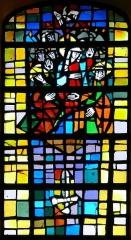 Eglise catholique Saint-Nicolas -  Alsace, Bas-Rhin, Neuve-Église, Église Saint-Nicolas (PA67000057, IA67009451): Verrière (XXe).