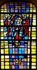 Eglise catholique Saint-Nicolas -  Alsace, Bas-Rhin, Neuve-Église, Église Saint-Nicolas (PA67000057, IA67009451): Verrière
