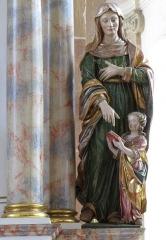 Manoir de Wangen - Alsace, Bas-Rhin, Église abbatiale Saint-Maurice d'Ebersmunster (PA00084701, IA00124485).  Autel secondaire de Saint-Oswald (1692-1730): Groupe sculpté