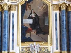 Grenier - Alsace, Bas-Rhin, Église abbatiale Saint-Maurice d'Ebersmunster (PA00084701, IA00124485).  Autel de Sainte-Scholastique (1781): Tableau