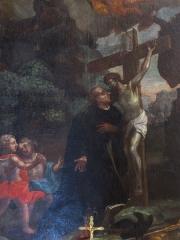 Faculté de Droit - Alsace, Bas-Rhin, Église abbatiale Saint-Maurice d'Ebersmunster (PA00084701, IA00124485).  Autel de Saint-Benoît (1730): Tableau
