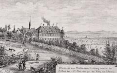 Domaine du château de Kolbsheim - Deutsch: Das Schloss Kolbsheim bei Molsheim. Bibliothèque nationale et universitaire de Strasbourg