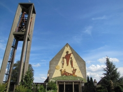 Eglise catholique Saint-Etienne -  Alsace, Bas-Rhin, Seltz, Église Saint-Étienne (PA67000069, IA67007467).