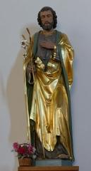 Eglise catholique Saint-Etienne -  Alsace, Bas-Rhin, Seltz, Église Saint-Étienne (PA67000069, IA67007467): Statue de St-Joseph (XIXe?).