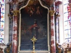 Ancien couvent des Dominicaines de Sylo - Alsace, Bas-Rhin, Église Saint-Maurice de Fegersheim (PA00132525, IA00023146).  Maître-autel avec tableau