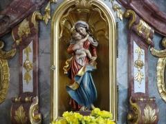 Immeuble - Alsace, Bas-Rhin, Église Saint-Maurice de Fegersheim (PA00132525, IA00023146).  Autel secondaire de l'Immaculée Conception (1780-1847): Statuette