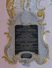 Vestiges de l'abbaye Saint-Barthélémy - Alsace, Bas-Rhin, Église Sainte-Marguerite de Geispolsheim (PA00085279, IA00023181).   Monument sépulcral de Jean Hartmann Eggs (1754):        This object is classé Monument Historique in the base Palissy, database of the French furniture patrimony of the French ministry of culture, under the references PM67000087 and IM67000186. brezhoneg | català | Deutsch | English | español | français | italiano | magyar | македонски | Plattdüütsch | português | suomi | +/−