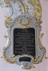Baraquement subsistant de la Siedlung - Alsace, Bas-Rhin, Église Sainte-Marguerite de Geispolsheim (PA00085279, IA00023181).   Monument sépulcral d'Adam Kauffmann (1754):        This object is classé Monument Historique in the base Palissy, database of the French furniture patrimony of the French ministry of culture, under the references PM67000088 and IM67000187. brezhoneg | català | Deutsch | English | español | français | italiano | magyar | македонски | Plattdüütsch | português | suomi | +/−