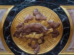 Ferme - Alsace, Bas-Rhin, Église Sainte-Marguerite de Geispolsheim (PA00085279, IA00023181).   Devant du maître-autel