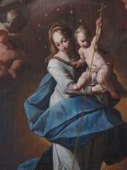 Grange aux dîmes - Alsace, Bas-Rhin, Église Sainte-Marguerite de Geispolsheim (PA00085279, IA00023181).   Tableau de l'autel secondaire