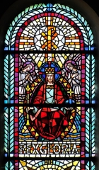 Vestiges de l'enceinte fortifiée urbaine - Alsace, Haut-Rhin, Église Saint Jean Baptiste de Buhl (PA00085356, IA00054793)  Verrière