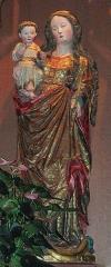 Loge maçonnique de Colmar - Vierge à l'enfant (XVe).      This object is classé Monument Historique in the base Palissy, database of the French furniture patrimony of the French ministry of culture,under the referencePM68000048. brezhoneg| català| Deutsch| English| español| français| italiano| magyar| македонски| Plattdüütsch| português| suomi| +/−  Ancienne collégiale Saint-Martin (XIIIe-XIVe-XVe) (PA00085368) de Colmar (Haut-Rhin, France).