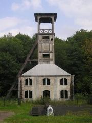 Chevalement du puits Sainte-Marie - Deutsch: Ronchamp, Förderturm eines ehemaligen Kohlebergwerks