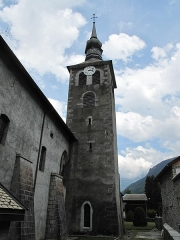 Ancienne abbaye de Sixt - English: Tower of the church of the abbey of Sixt-Fer-à-Cheval (Haute-Savoie, France).